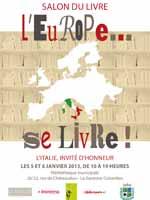 L'Italie invitée d'honneur au salon du livre L'Europe…  Salonitalie12749