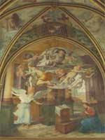 Fresques de Primatice dans la chapelle de l'abbaye royale de Chaalis